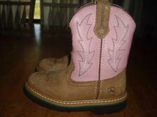 NEW Little Girls Boys Size 11.5 John Deere Johnny Popper Western Boots Cowboy