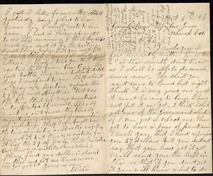 10/1864 Letter from Private Elisha O Drake 20th Maine Vols with Transcript
