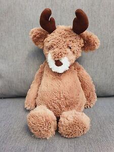🦌 Jellycat Medium Bashful Reindeer Plush Soft ToyWHITE MUZZLE