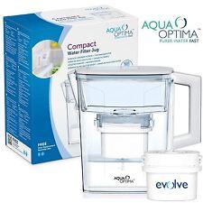 Aqua optima compact 2.1L réfrigérateur eau carafe fits brita avec 1 30-jour filtre recharge