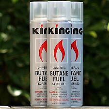 3 Pack KING 5x Butane Gas for Torch Lighter 300ML Cigar Refill Fluid Tank Liter