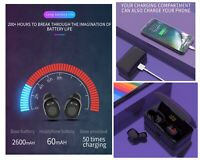 Wireless Bluetooth Earbuds Headphones Earphones Samsung iPhone Charging Case