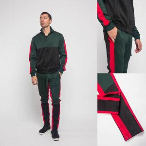 Men's Sports Track Pants & Jacket Tri-Colored Track Suit Set    S~5XL     ST560