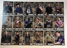 THE WALKING DEAD SEASON 5 (2016) Trading Cards Complete CHARACTERS Chase Set