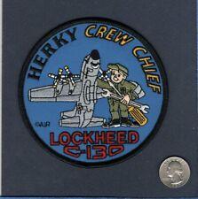 C-130 HERCULES CC CREW CHIEF USAF US NAVY Lockheed Transport Squadron Crew Patch