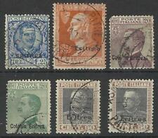 ERITREA 1925-1928 SMALL SELECTION USED