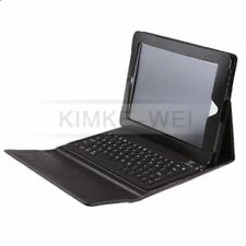 Black Leather Case Cover w/ Wireless Bluetooth Keyboard for Apple iPad 4 3 2 New