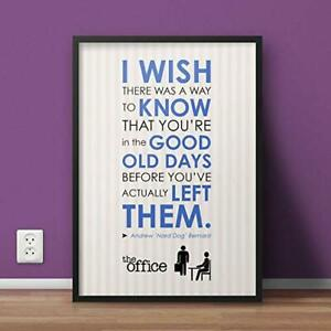 The Office #AnndyBernnard Quote Finale Art Gift Wall Decor Poster, no Framed