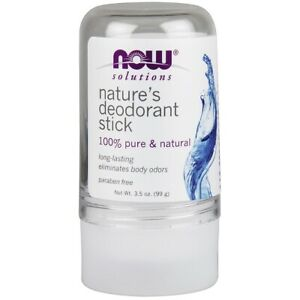 Now Foods NATURE'S DEODORANT STICK (STONE) 3.5 OZ Made in USA FREE SHIPPING