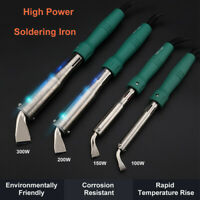 220V 100/150/200/300W High Power Electric Soldering Iron Chisel Point Copper Tip