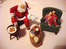 2002 Santas Big Night Hallmark Collectors Club Membership Ornament 4 Piece Set