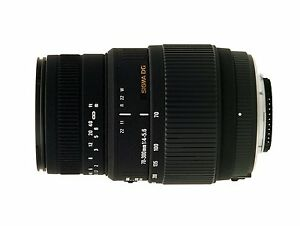 Sigma AF 70-300 mm DG Macro Objektiv für Sony Alpha A55 A57 A58 A68 A77 usw Neu