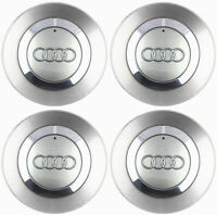 4x150mm Audi Gray Wheel Center Caps Hubcaps Emblems Rim Caps Badges 8E0601165