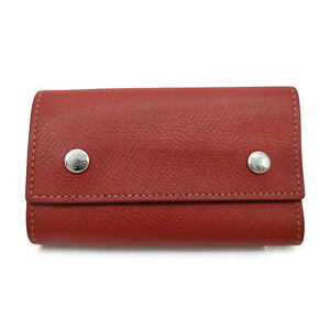 Hermes Key Case  Reds Leather 410725
