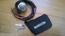 Lambretta GP. conmutador de encendido, incluso 2 Llaves & Cremallera Bolsa Nuevo