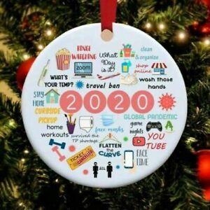 2020 Pandemic Quarantine Christmas Ornament Funny Xmas Gift