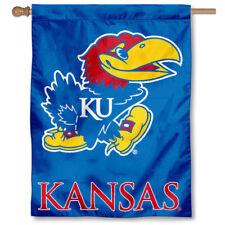 Kansas Jayhawks KU University College House Flag