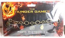 Hunger Games Peeta District 12 Charm Bracelet- Carded- FREE S&H (HGJW-70)