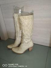 Eleganti Stivali In Pelle Nero Giardini Donna Beige 38