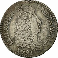 [#472116] Coin, France, Louis XIV, 1/12 Écu aux 8 L, 1691, Paris, KM 282.1