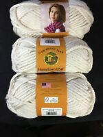 Lion Brand Yarn Hometown USA, Houston Cream 3 Skeins. 5 Oz. 142G. 81 Yds.