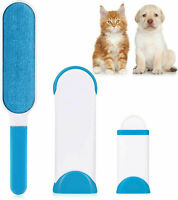 Lint Remover / Pet Brush with Self-Cleaning Base. Large Double-Sided Brush