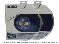 "2 X DURO Dry Cutting Diamond Discs Building Materials 12"" to fit Cut Off Saws"