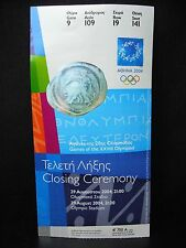 2004 Athens Olympic Ticket Stub > Closing Ceremony