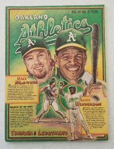1994 Oakland Athletics Magazine vol 14 No.3 McGwire, Henderson