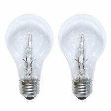2PK - Sylvania 72w A-Shape A19 E26 Clear Halogen Light Bulb - 100w equiv.