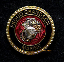 PROUD GRANDSON OF A US MARINE HAT PIN MARINES DAD MOM WIFE WM GRAND MA PA