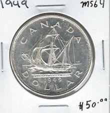 Canada 1949 Silver Dollar $1 MS64