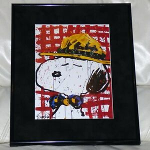 TOM EVERHART PEANUTS SNOOPY HAT MAKES THE DUDE #3 FRAMED PRINT CHARLES SCHULZ