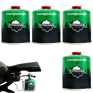 4x Gaskartusche 450g Slim für Tischgrill Gaskocher Camping EN417 Schraubgewinde