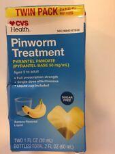Pinworm Treatment PYRANTEL PAMOATE TWO 1oz bottles 3/21