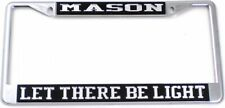Mason Let There Be Light License Plate Frame [Silver Standard Frame]