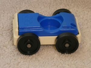 Fisher Price Little People Vintage Blue & White Car Vehicle #2