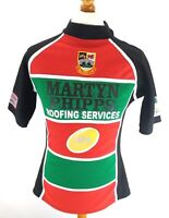 BEDWAS RFC Mens Rugby Shirt 36 S Small Red Green Black Polyester #10