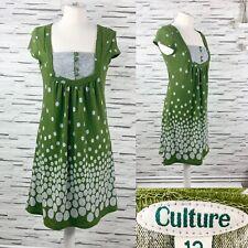 CULTURE Green Spot Smock Dress Size 12
