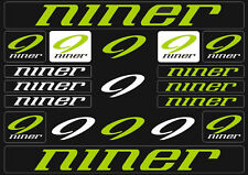 Niner Mountain  Bicycle Frame Decals Stickers Graphic Adhesive Set Vinyl Green