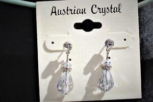 Austrian crystal , sparkling bling  earrings,  stud  dangle