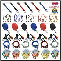 Variety of Dog Training Leads Pet Leash Chain Coupler Slip Padded Strong Nylon