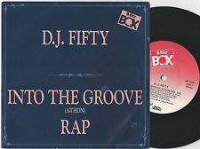 D.J. FIFTY Into The Groove (A-Thon) Rap Swedish 45PS 1987. Beat Box