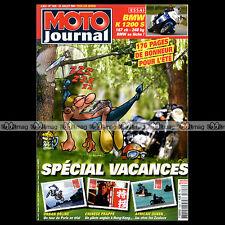 MOTO JOURNAL N°1626 YAMAHA 450 WRF SUZUKI DRZ 400 E BMW K 1200 S HERVE PONCHARAL