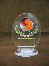 Basketball Award clear trophy ball torch full color