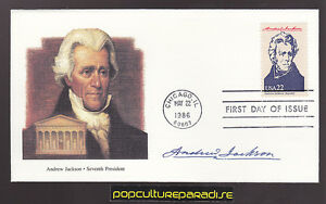 PRESIDENT ANDREW JACKSON First Day of Issue STAMP COVER FDC 1986 Fleetwood