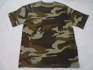 Boys Camo Tee Shirts Size XS S M L XL XXL Short Sleeve Crew Kids