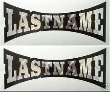 Personalized name custom text helmet decal stickers football baseball sports bmx