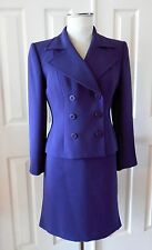 Mother's Day LIZ CLAIBORNE Women 2PC Suit Blazer Skirt Purple Size 6P NEW