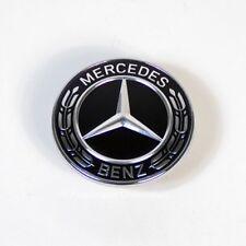 Mercedes Black Bonnet Badge Emblem AMG C E S Class C180 C200 57mm C250 E250 W204